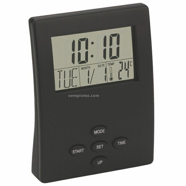 Transparent Lcd Desk Clock