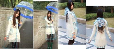 Transparent Waterproof Short or Long Raincoat, Show Your Style