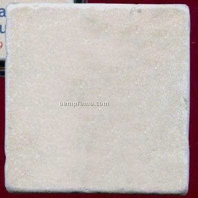 Tumbled Botticino Single Marble Coaster