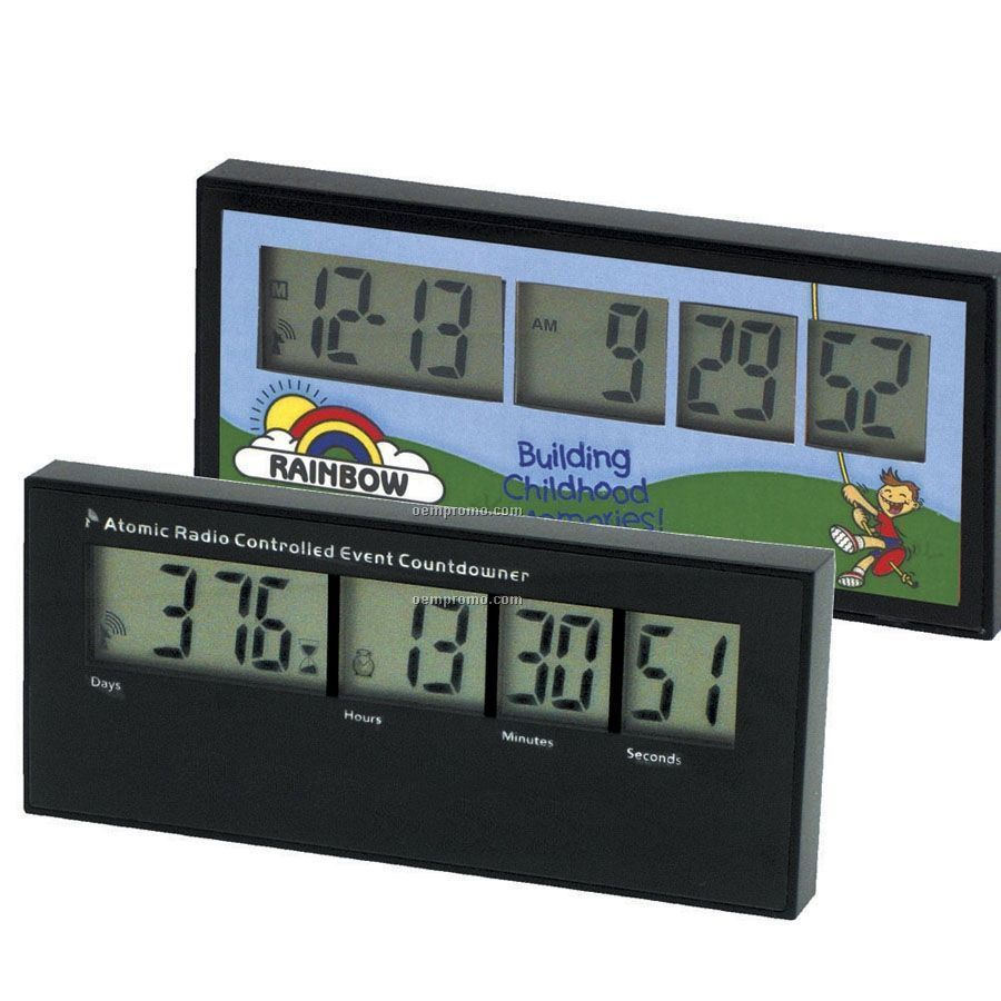 Ultimate Atomic Countdown Clock With 4 Color Process