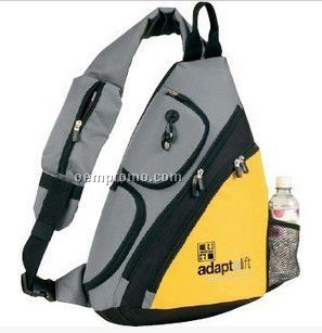 Urban sport sling backpack with PVC backing