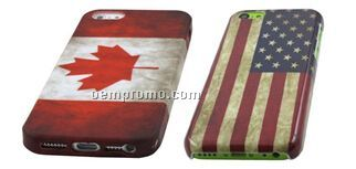Vintage Canadian or American Flag Style Case