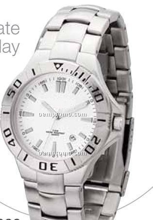 Watch Creations Men`s White Dial Watch W/ Date Display