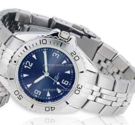 Watch Creations Unisex Blue Dial Watch W/ Date Display