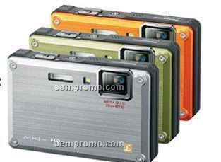 Waterproof Shockproof Digital Camera / Avchd Life (Orange)