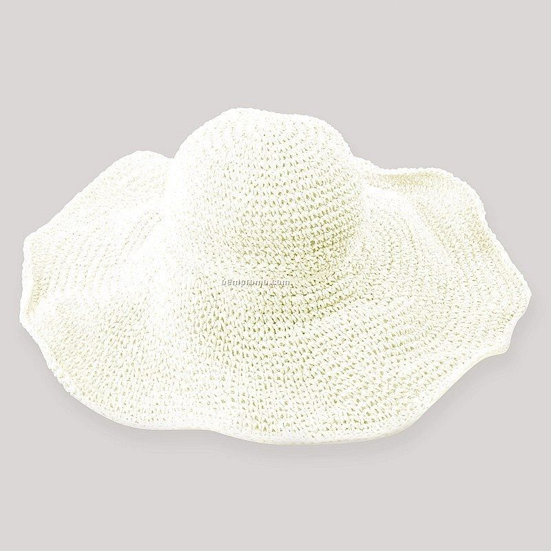 White color straw hat