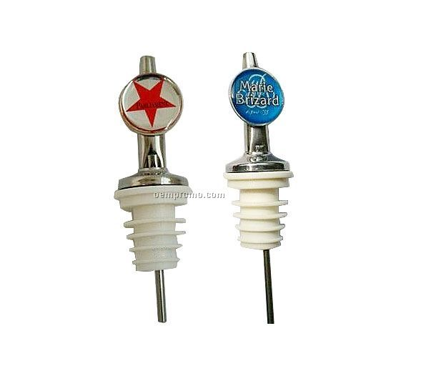 Wine Bottle Pourer With Badge