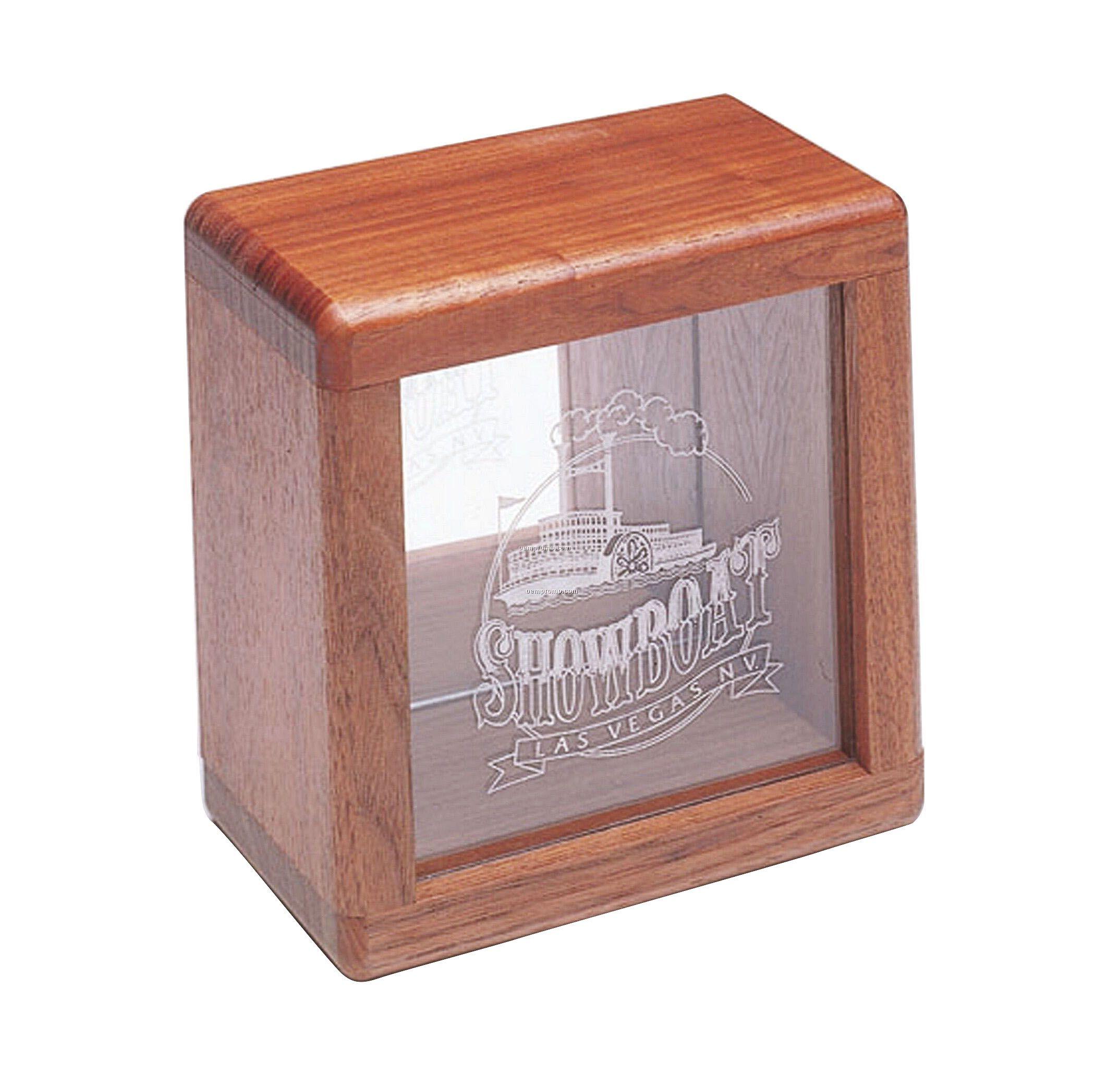 """Wood Bank (6 1/2""""X6 1/2""""X4"""")"""