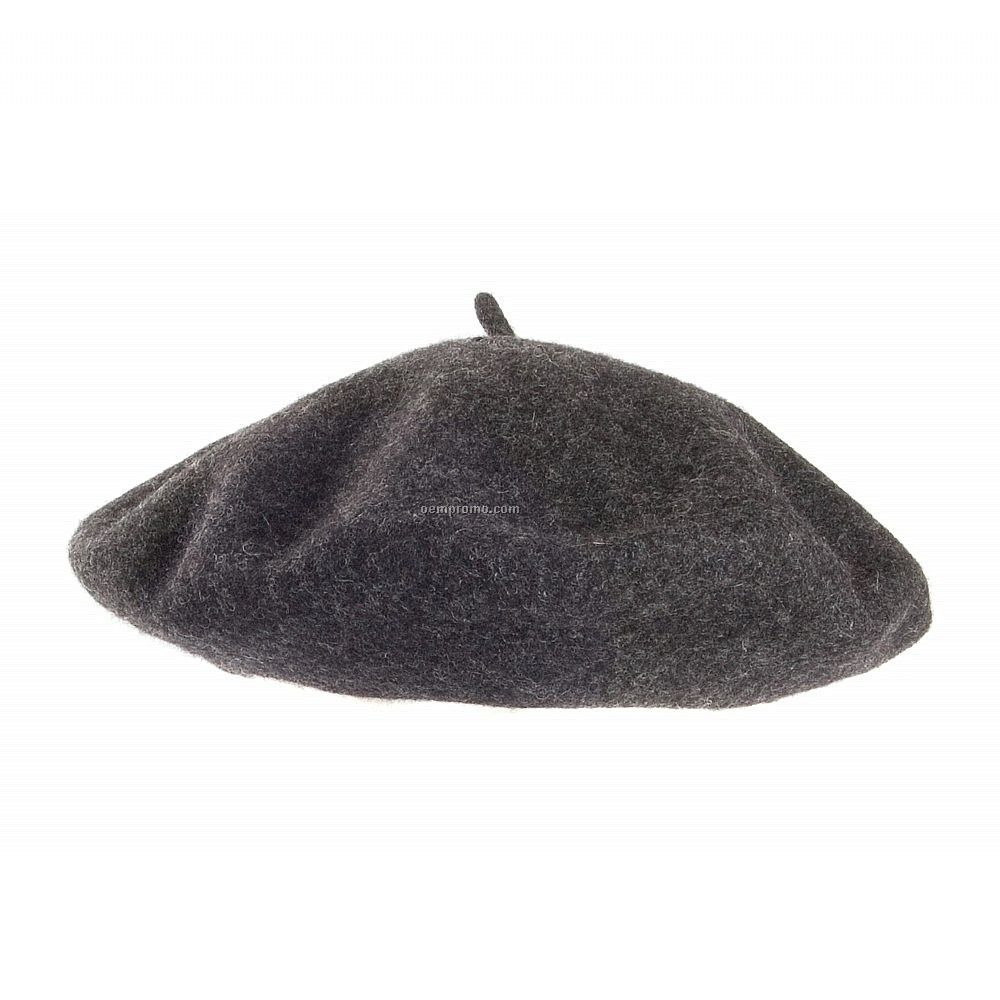 Wool Fashion Beret - Grey