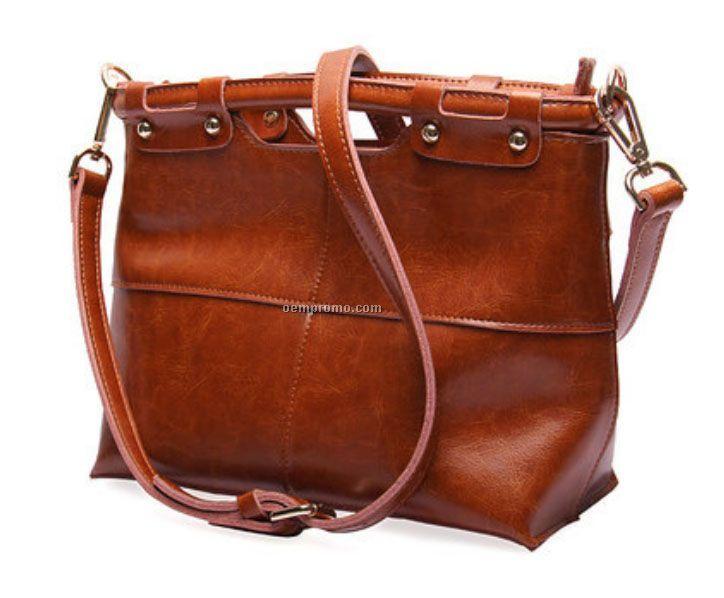 customize leather tote bag vintage lady shoulder bag