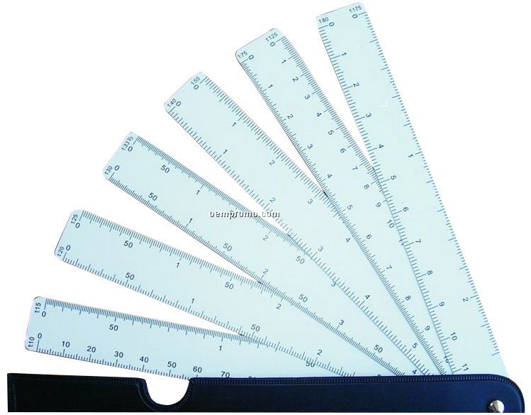 fan Architect art design scale ruler,scale ruler/ruler with 12different scales