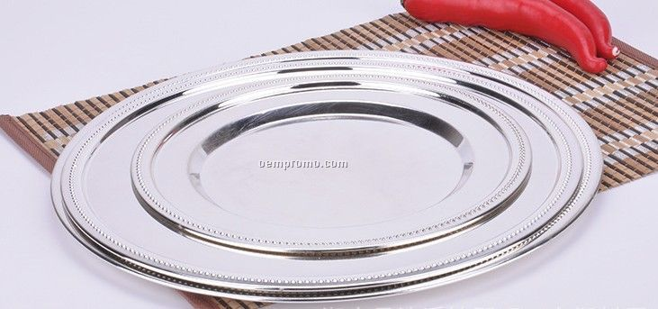 silver stainless steel plate