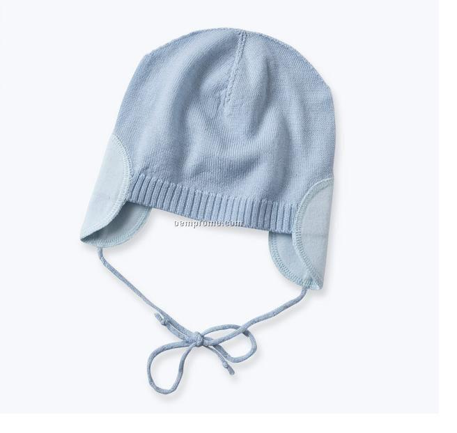 sky blue baby earflap hat