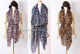 striking leopard print style shawl scarf